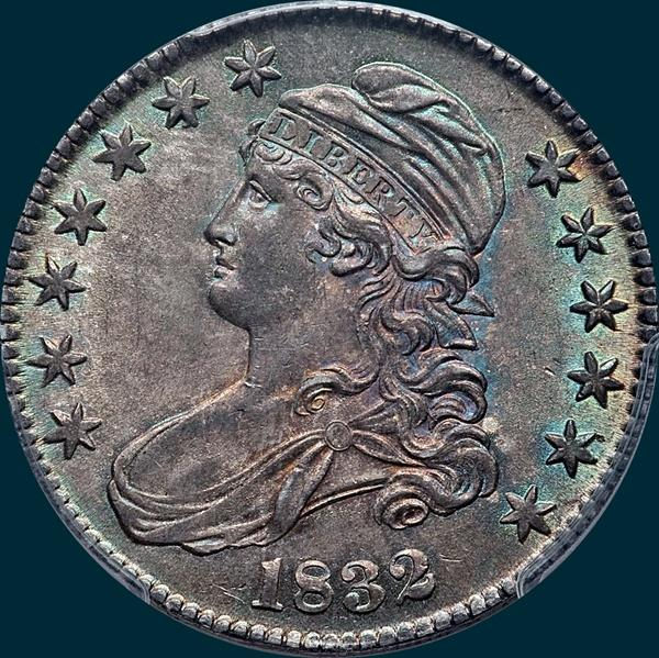1832 O-111 capped bust half dollar