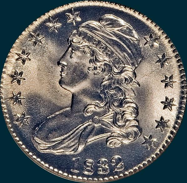 1832 O-113 capped bust half dollar