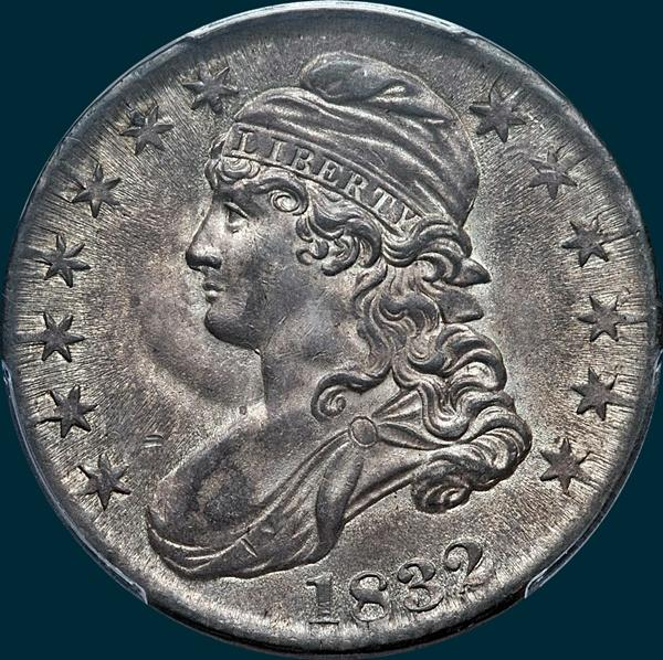 1832, O-113a, Small Letters, Capped Bust, Half Dollar