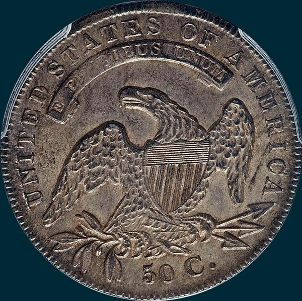 1836 o-112, capped bust half dollar