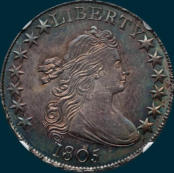 1805, O-108, Draped Bust, Half dollar