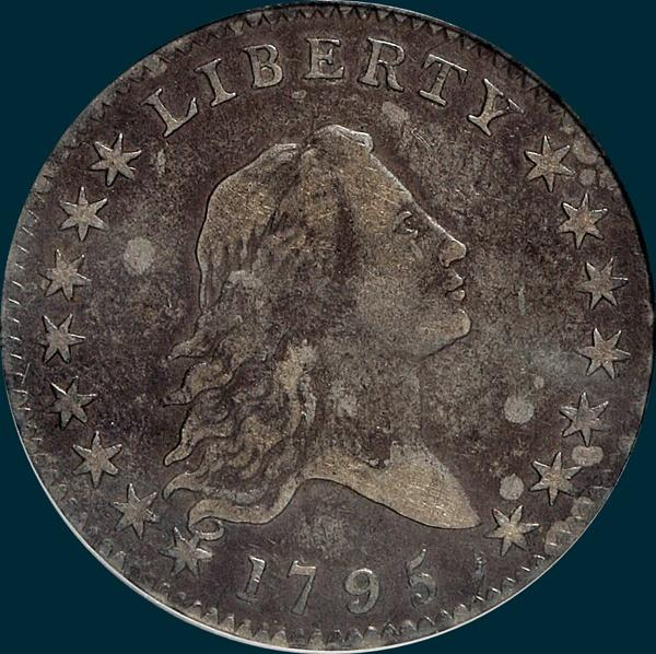 1795, O-114,  Flowing Hair, Half Dollar