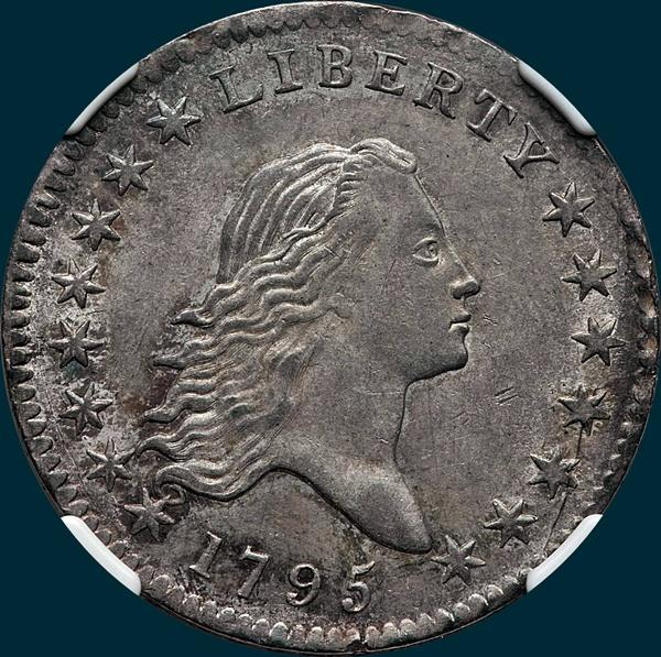 1795, O-115 Edge, Flowing Hair, Half Dollar