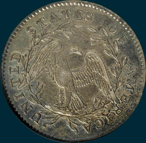 1795, O-117,  Flowing Hair, Half Dollar