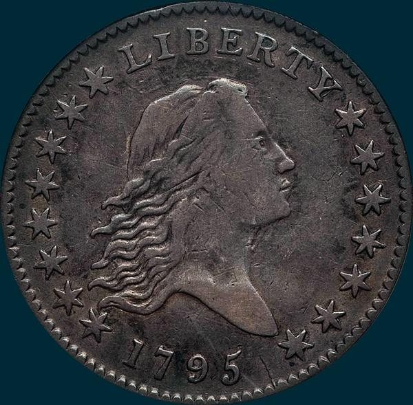 1795, O-117a,  Flowing Hair, Half Dollar
