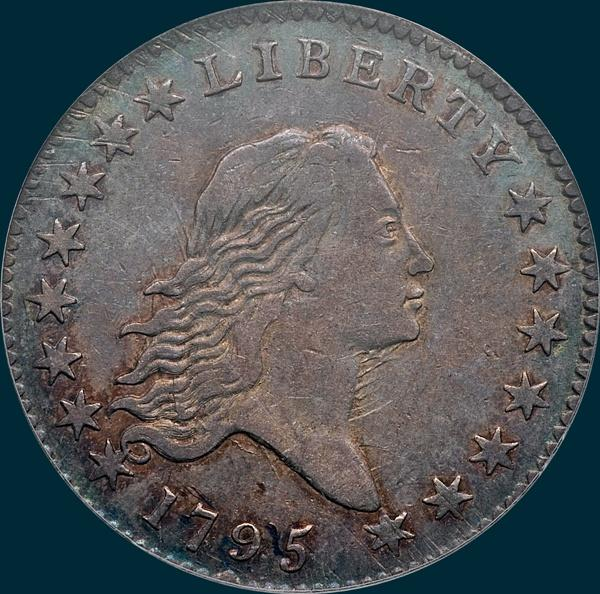 1795, O-122 Edge, Flowing Hair, Half Dollar
