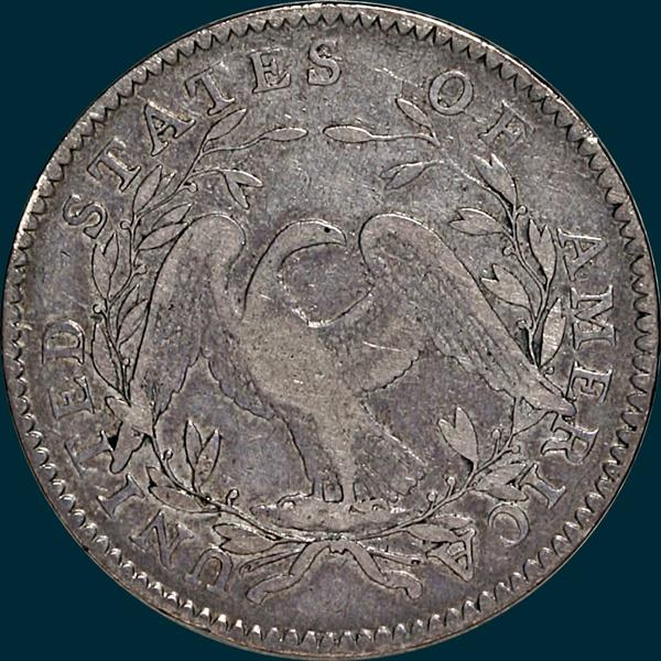 1795, O-123 Edge, Flowing Hair, Half Dollar