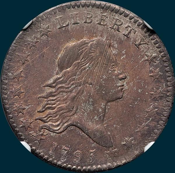 1795, O-124 Edge, Flowing Hair, Half Dollar