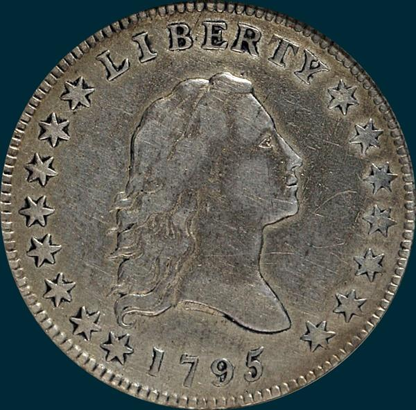 1795, O-126,  Flowing Hair, Half Dollar