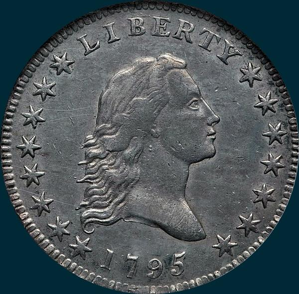 1795, O-126 Edge, Flowing Hair, Half Dollar