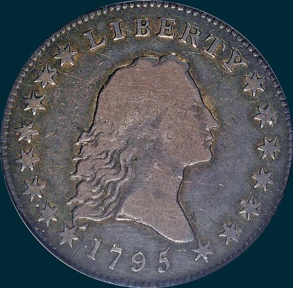 1795, O-128 Edge, Flowing Hair, Half Dollar