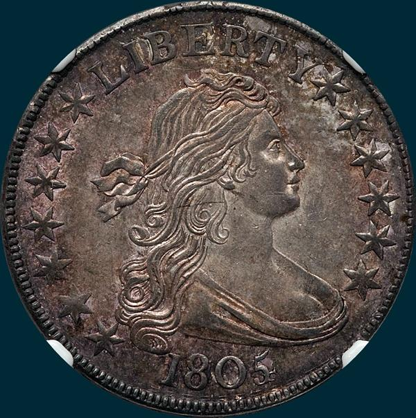 1805/4, O-101, Draped Bust, Half dollar