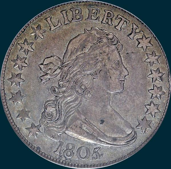 1805/4, O-101a, R7?, Draped Bust, Half Dollar