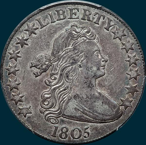 1805, O-109, Draped Bust, Half dollar