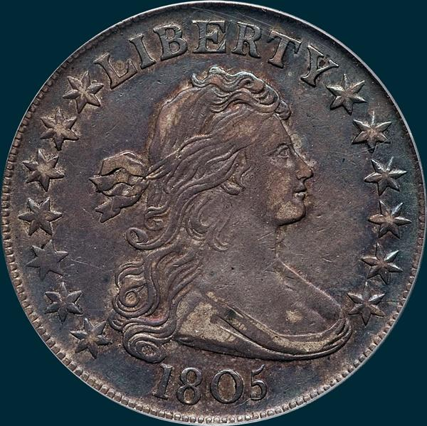 1805, O-110, Draped Bust, Half dollar