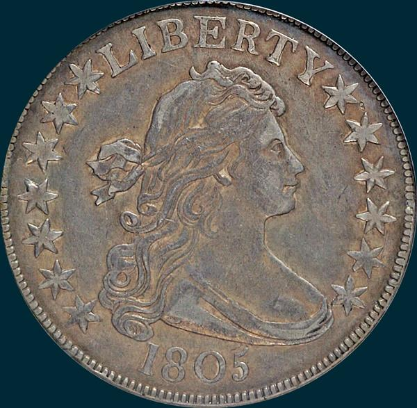 1805, O-113, Draped Bust, Half dollar