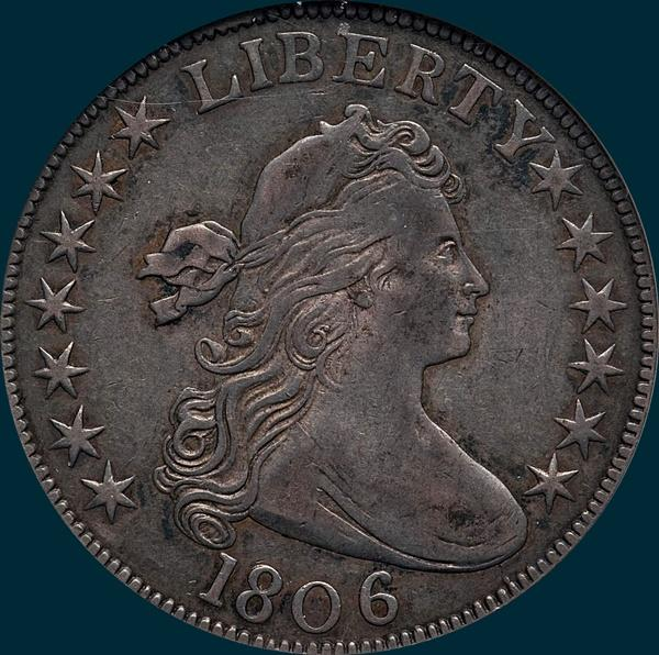 1806, O-107, Draped Bust, Half Dollar