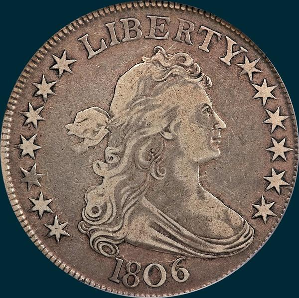 1806, O-122, Draped Bust, Half Dollar