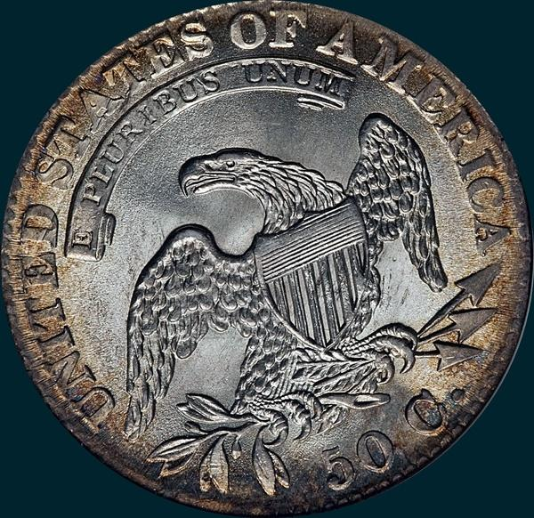 1832, O-108a, Small Letters, Capped Bust, Half Dollar