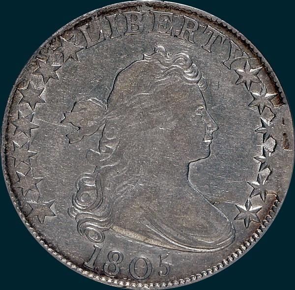 1805, O-104a, R7?, Draped Bust, Half Dollar