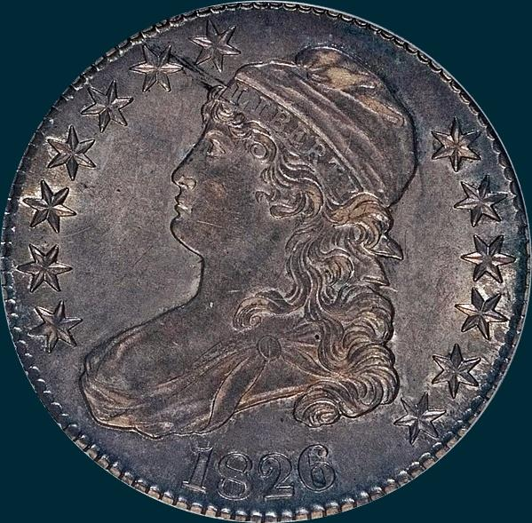 1826, O-112 Prime Die State, Capped Bust, Half Dollar