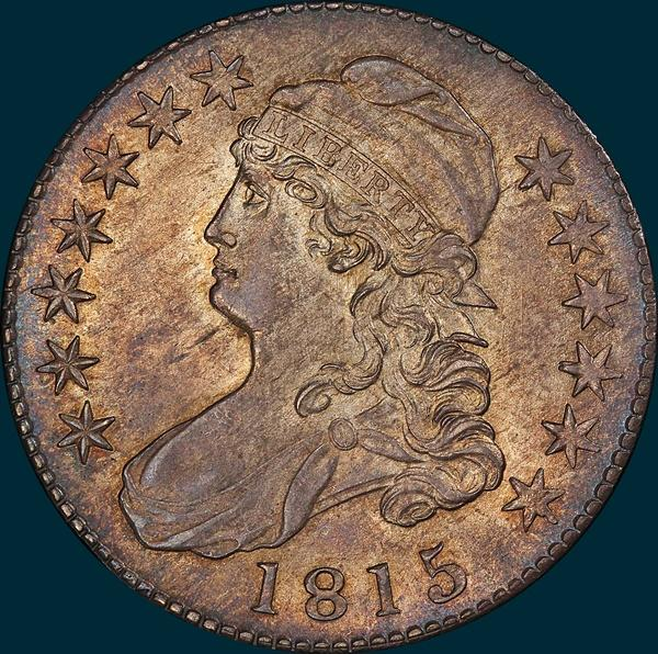 1815/2, O-101, Capped Bust, Half Dollar