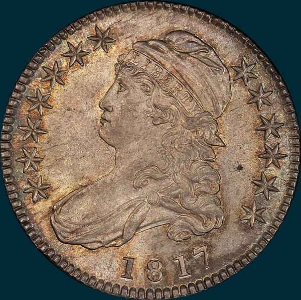 1817 o-113, capped bust half dollar