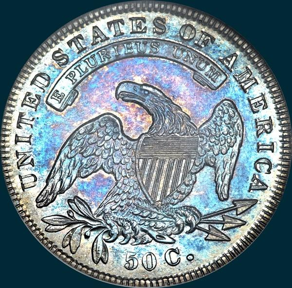 1836 o-109, capped bust half dollar