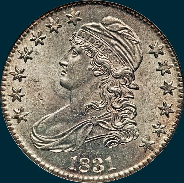 1831, O-116, Capped Bust, Half Dollar