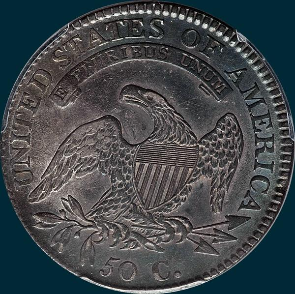 1811 o-112, small 8, capped bust half dollar