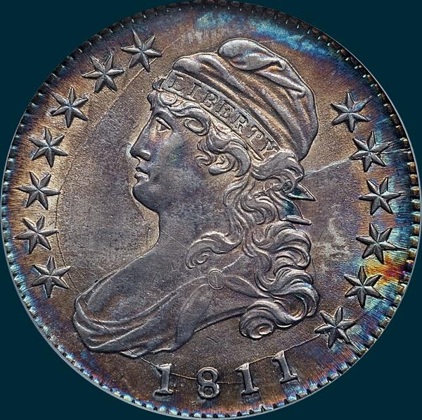 1811, O-112a, Small 8, Capped Bust, Half Dollar