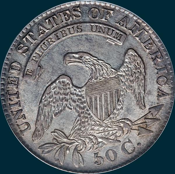 1829, 29 over 27, O-102a, Capped Bust, Half Dollar