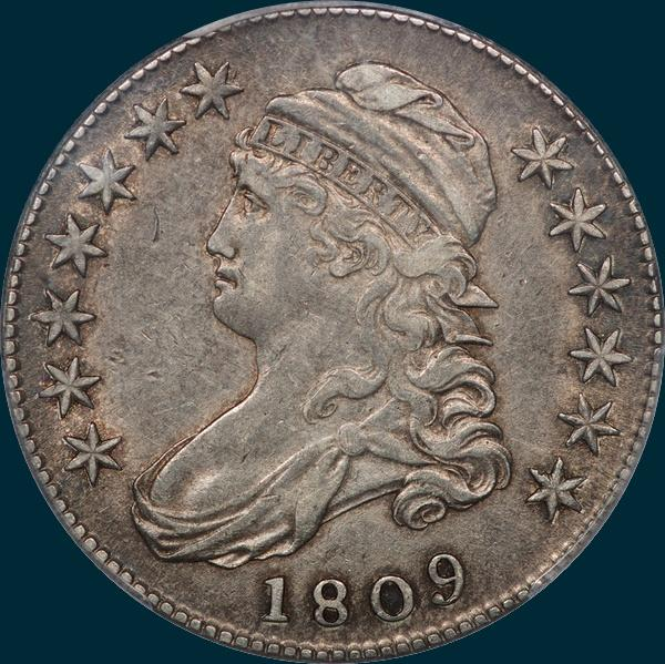 1809 O-113 capped bust half dollar