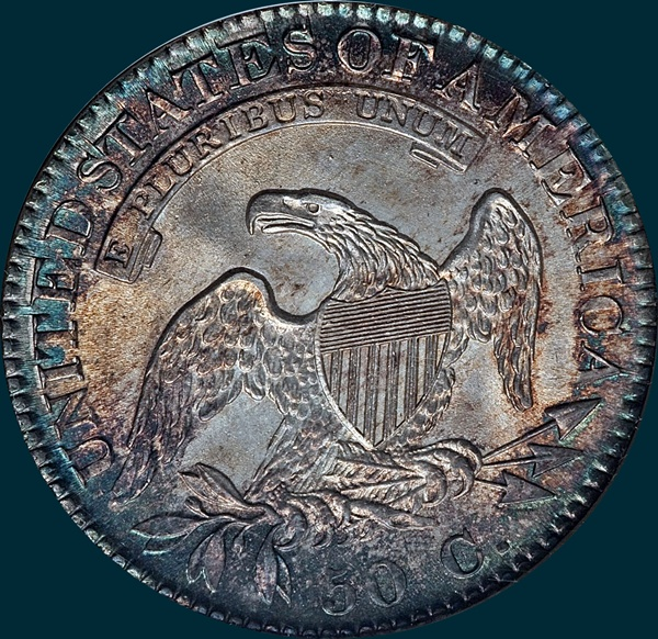 1823, O-104, Capped Bust, Half Dollar