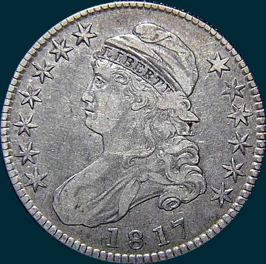 1817, O-108, Capped Bust, Half Dollar