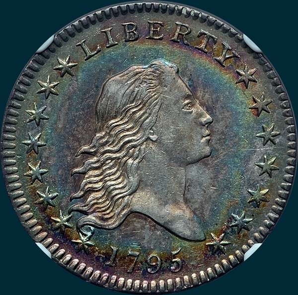 1795, O-105, Flowing Hair, Half Dollar