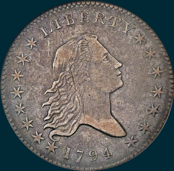 1794, O-107, Flowing Hair, Half Dollar