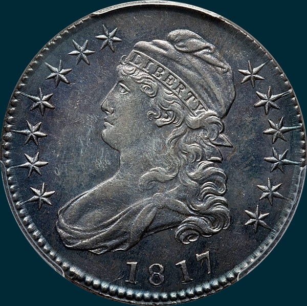 1817, O-105, Capped Bust, Half Dollar