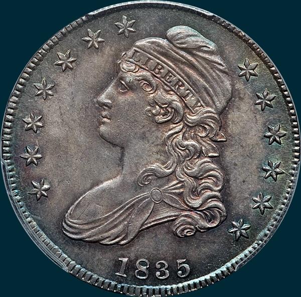 1835 O 103 R2 Capped Bust Half Dollar Dave S Bust Half