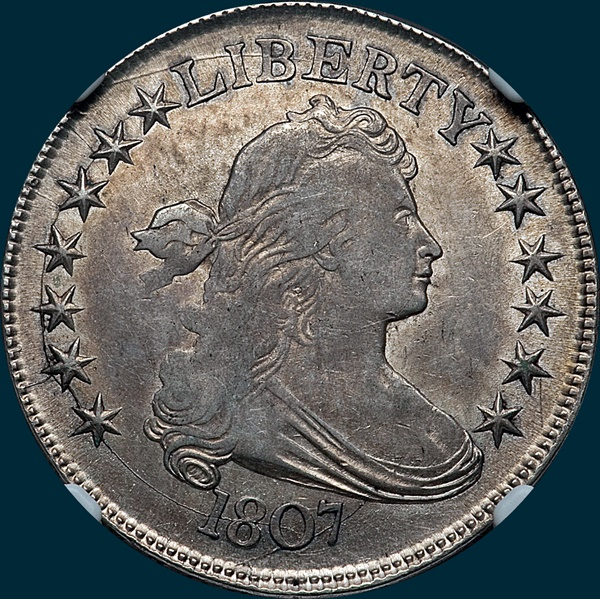 1807, O-109A, Draped Bust, Half Dollar