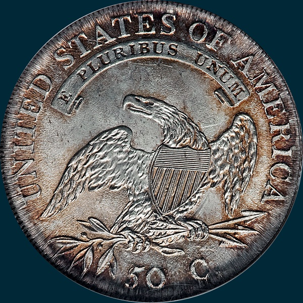 1807, O-112, 50 over inverted 5, Capped Bust, Half Dollar, 50/20