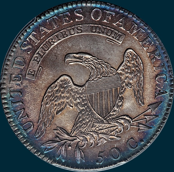 1819/8 O-102, Capped Bust, Half Dollar