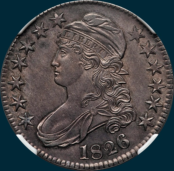 1826, O-113, Capped Bust Half Dollar