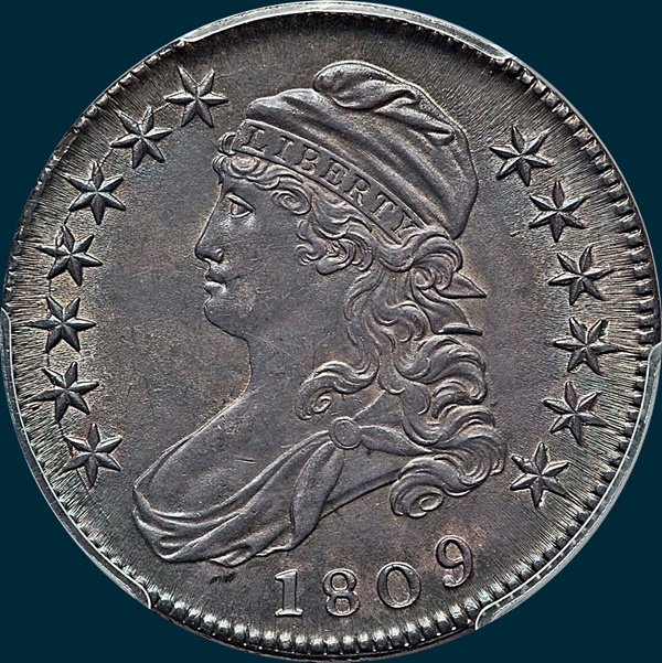 1809 O-106 capped bust half dollar