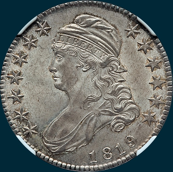 1819, O-111, Capped Bust, Half Dollar