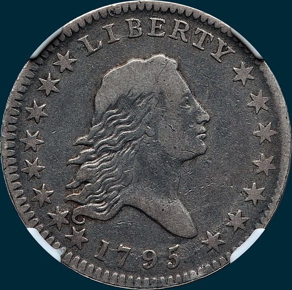 1795, O-101, Flowing Hair, Half Dollar