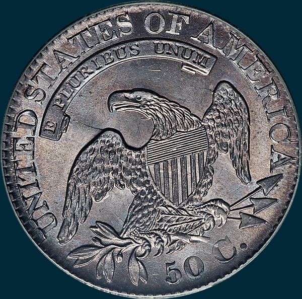 1827, O-102, 7 over 6, Capped Bust, Half Dollar