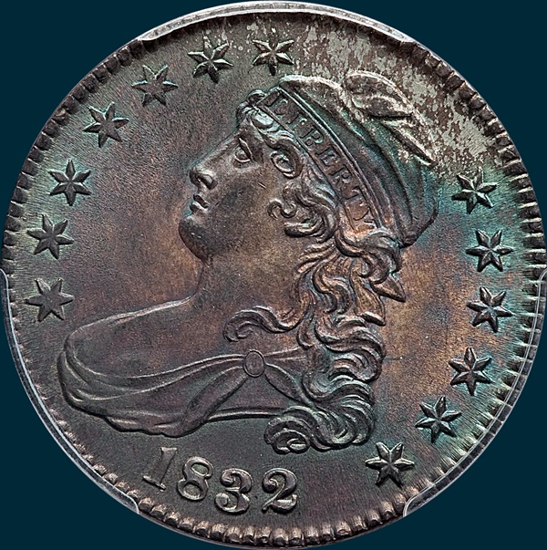 1832 O-115 capped bust half dollar