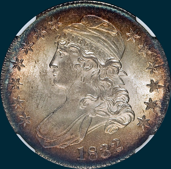 1832 O-108 capped bust half dollar