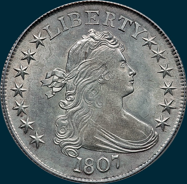 1807, O-108, Draped Bust, Half Dollar